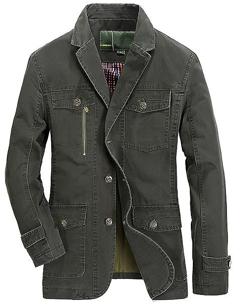Amazon.com: chouyatou - Chaqueta de chaqueta, cuello con ...