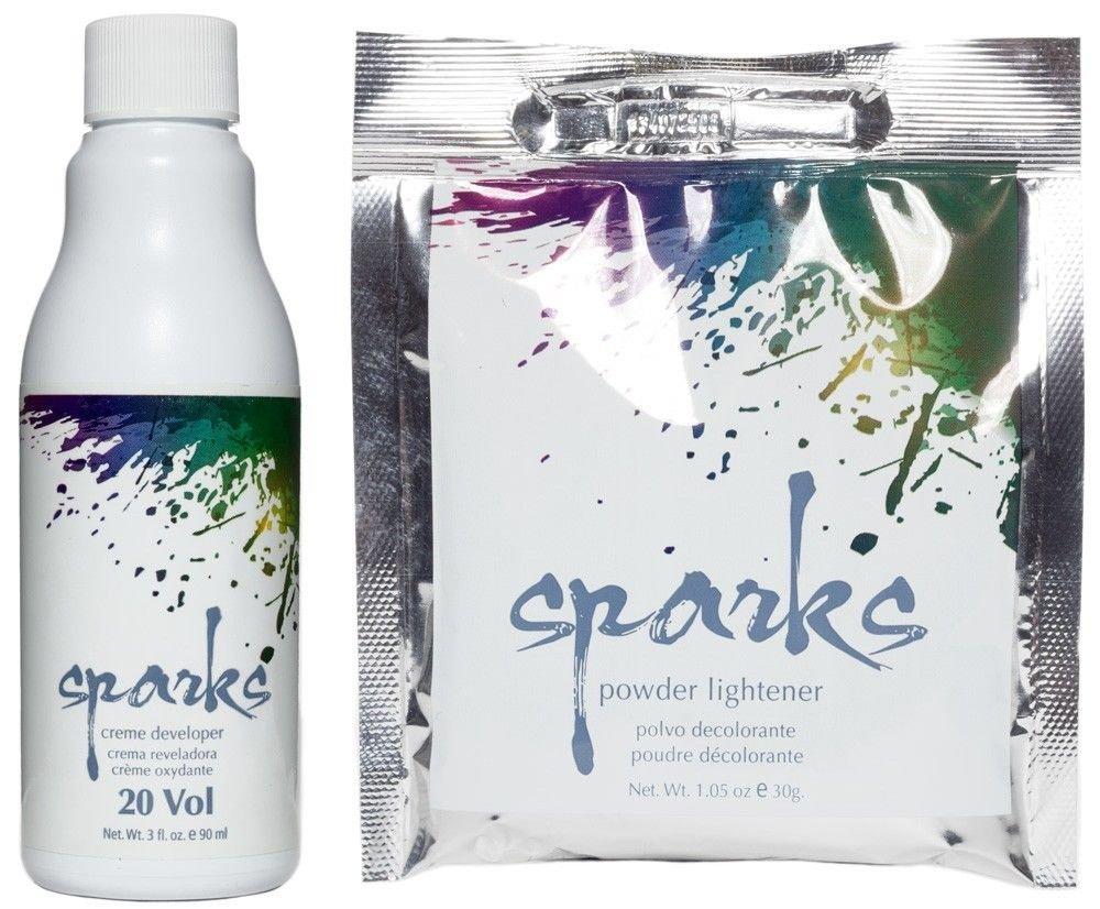 Sparks Powder Lightener 1.05oz & 20 Volume Creme Developer 3oz (Combo Set)