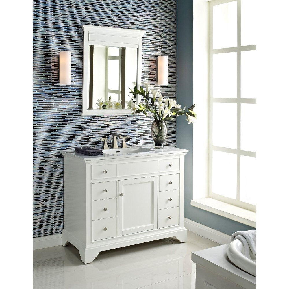 simple carrara pictures vanities projects inch side off marvelous bathroom center exclusive incredible left amazon the home drawers com vanity white with on ideas top silkroad design marble decor
