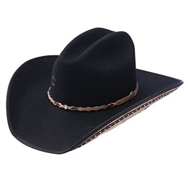 Image Unavailable. Image not available for. Color  Charlie 1 Horse Rising  Star Color Black Cowboy Hat ... a9052c2d5dd0