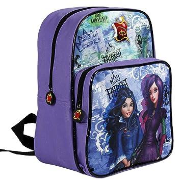 Descendants 13734 - Pequeña mochila de niña con gran compartimiento de la serie animada Disney Descendientes, morado: Amazon.es: Equipaje