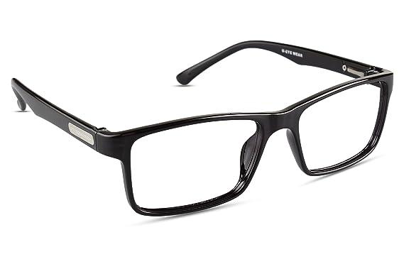 d5db724460 Image Unavailable. Image not available for. Colour  REACTR- Square  Eyeglasses Premium Specs Full Frame Eyeglasses For Men ...