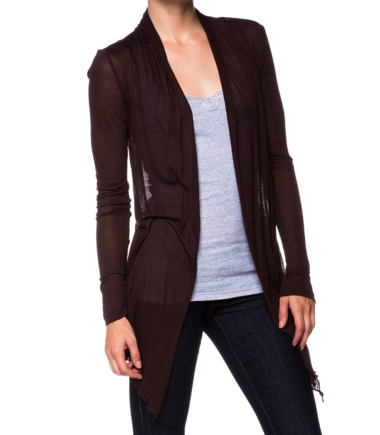 Semi-sheer Cardigan Cover-up with Pockets at Amazon Women's ...