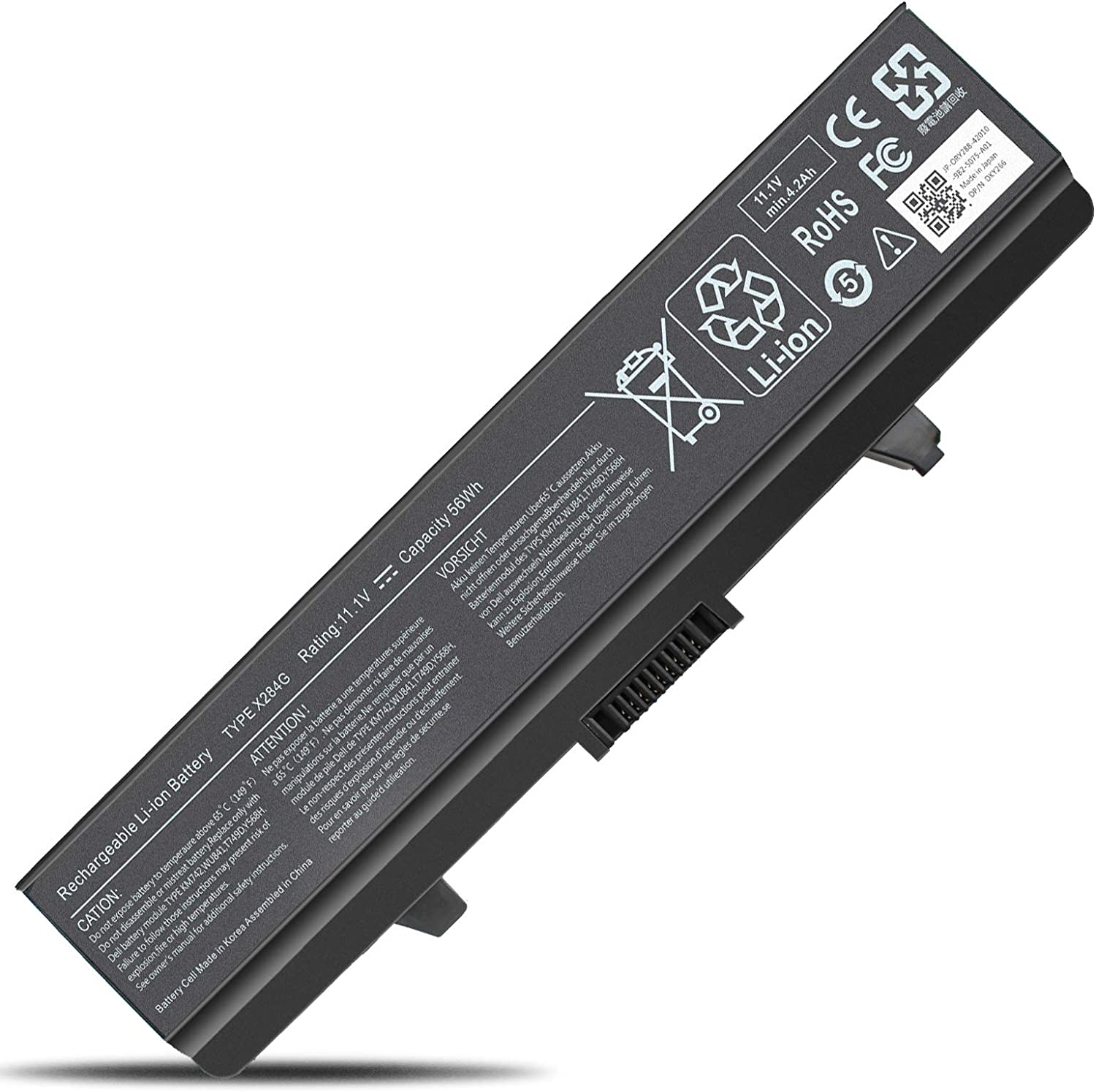 LXHY X284G 11.1V 56Wh Laptop Battery Compatible with Dell Inspiron 1525 1526 1545 1546 PP29L PP41L 14 1440 1440N 17 1750, Vostro 500 Series 6 Cells Replacement GW240 X284G K450N HP277 RU59