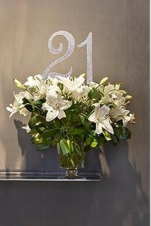 crystal rhinestones cake topper premium monogram birthday or anniversary party decoration 21 twenty one