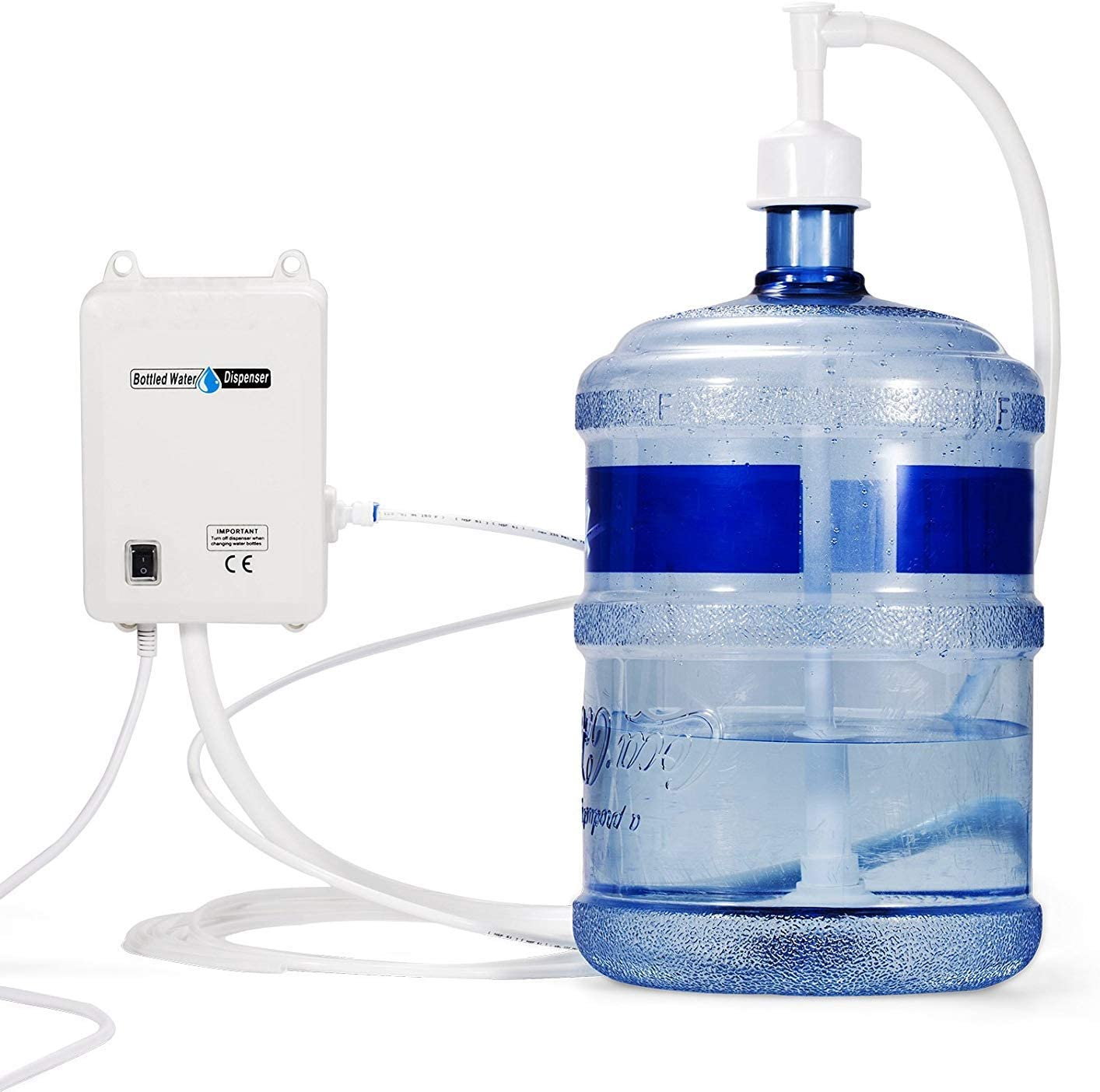 KITGARN Bottled Water System 1 Gal//Min Bottled Water Pump 40 PSI Bottle Water Dispensing Pump System with 20ft PE Pipe 1 Gal//Min