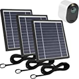 Uogw 3 Pack Solar Panel Charge for Arlo Pro 3 / Arlo Ultra/Ultra 2,with 11.5ft Waterproof Magnetic Power Cable…