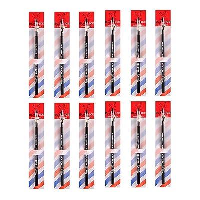Black Ice Spray Barber Pencil (Black) - 12 pieces: Beauty