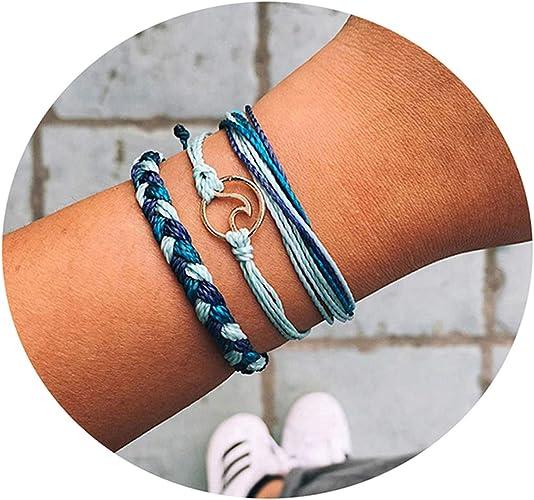 Multilayer Surfer Bangle Fashion Jewelry Leather Bracelet For Girls Boy Gift