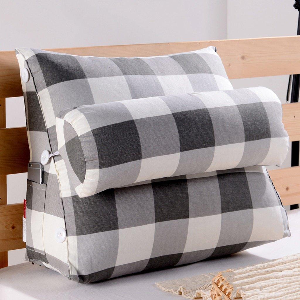 Unbekannt MMM- Bedside Dreieckskissen Kissen Soft Case Büro Sofa Rückenlehne Nackenschutz Taillenschutz Waschbar (Farbe : #1, größe : 60)
