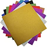 """levylisa 10 Sheets Large 11.8"""" x 11.8"""" Glitter Self-Adhesive Sticker Sticky back Paper Craft Art Sparkling Sign Gemstone Metallic Color Diy Gift (Mixed Colors)"""