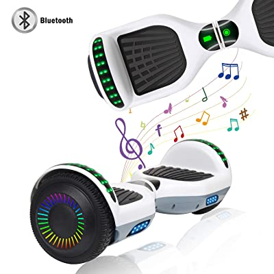 YHR Hoverboard with Wireless Bluetooth Speaker Electric Self Balancing Scooter and LED Light Two-Flashing Wheel with UL2272 Certified for Kids and Adult: Sports & Outdoors