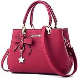 Dreubea Womens Handbag Tote Shoulder Purse Leather Crossbody Bag