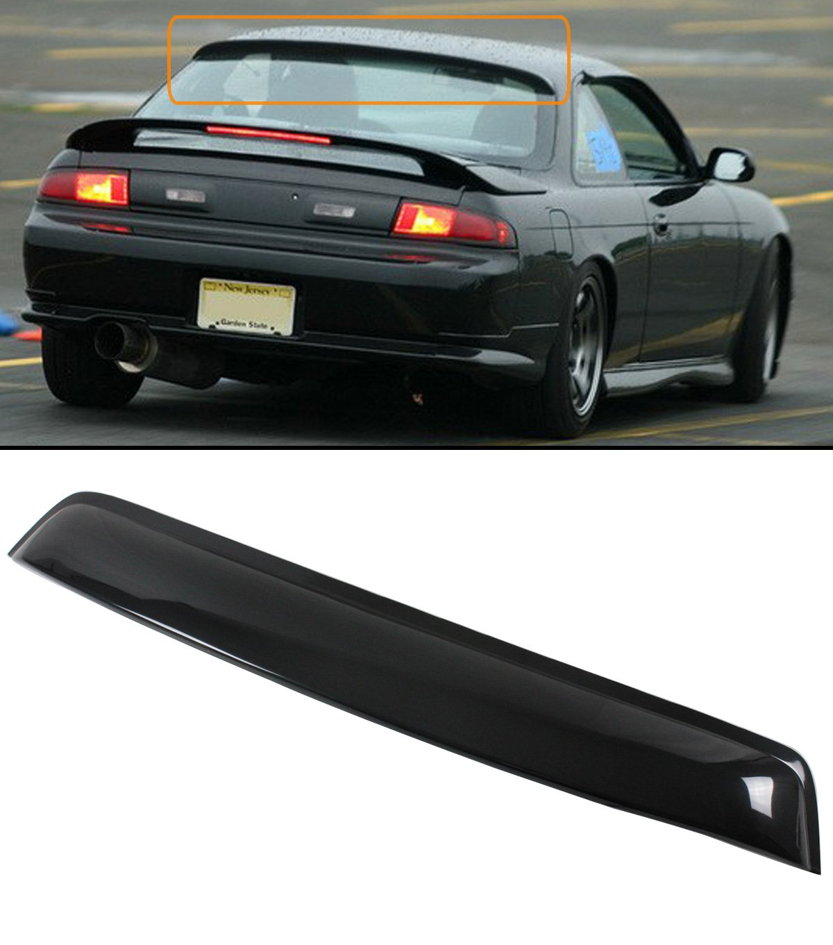 Cuztom Tuning Fit For 1995 1998 Nissan 240sx S14 2 Door Sale Coupe Rear Window Roof Visor Spoiler Shade Automotive