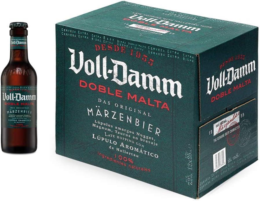 Damm - Cerveza Voll-Damm Doble Malta, Caja de 12 Botellas 25cl Cerveza Doble Malta, Estilo Märzenbier, 100% Ingredientes Naturales, Original, en Botellín: Amazon.es: Alimentación y bebidas