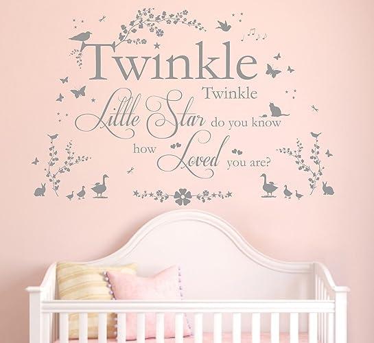 twinkle twinkle little star quote vinyl wall art sticker mural