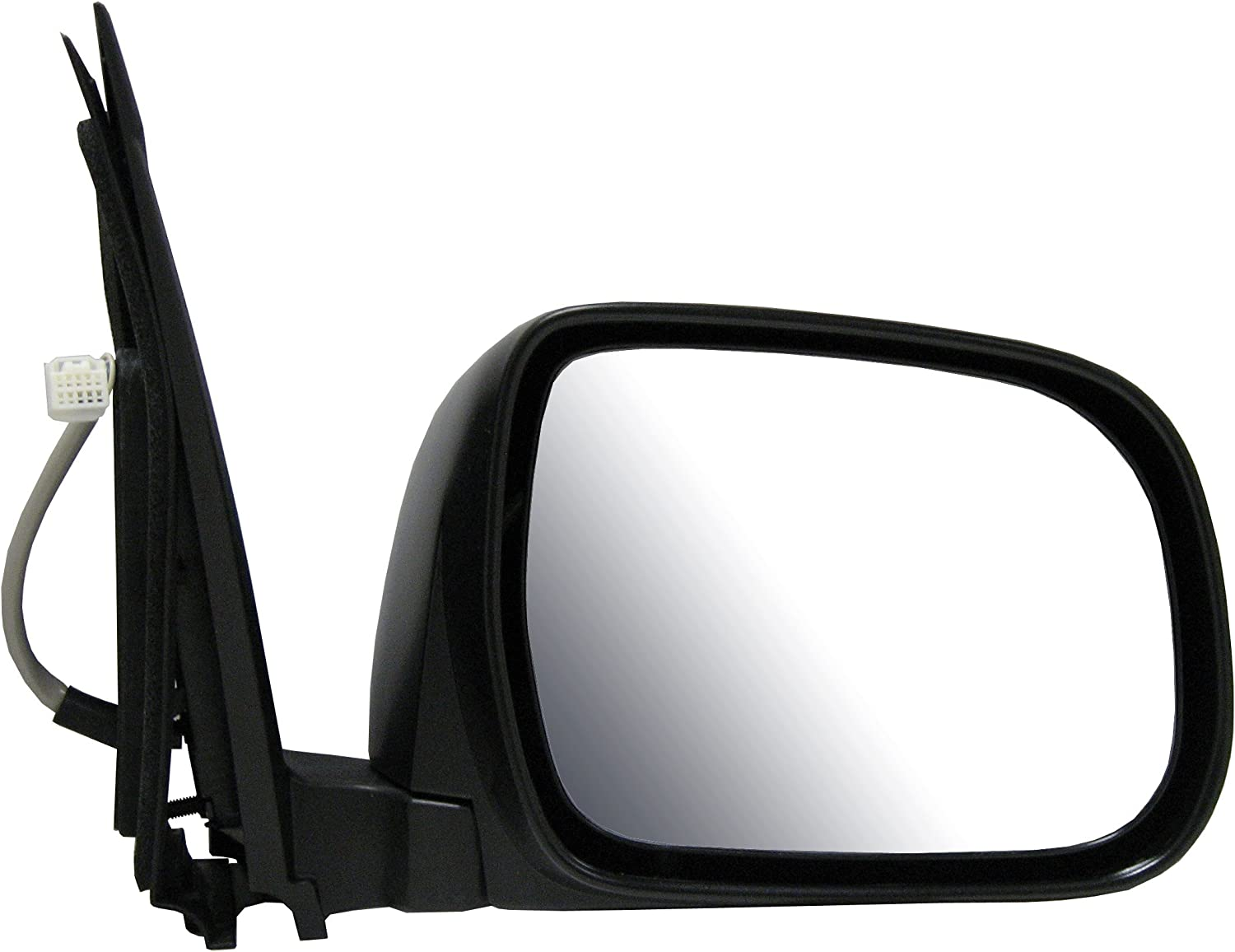 NS passenger side left wing mirror Electric Power Fold Black Cover W//O glass