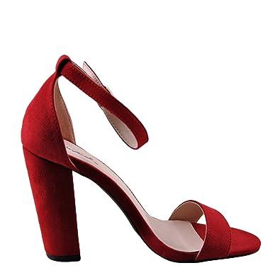 9c669c81f22c59 Qupid Cashmere 01 Women s Open Toe Ankle Strap Heel (6