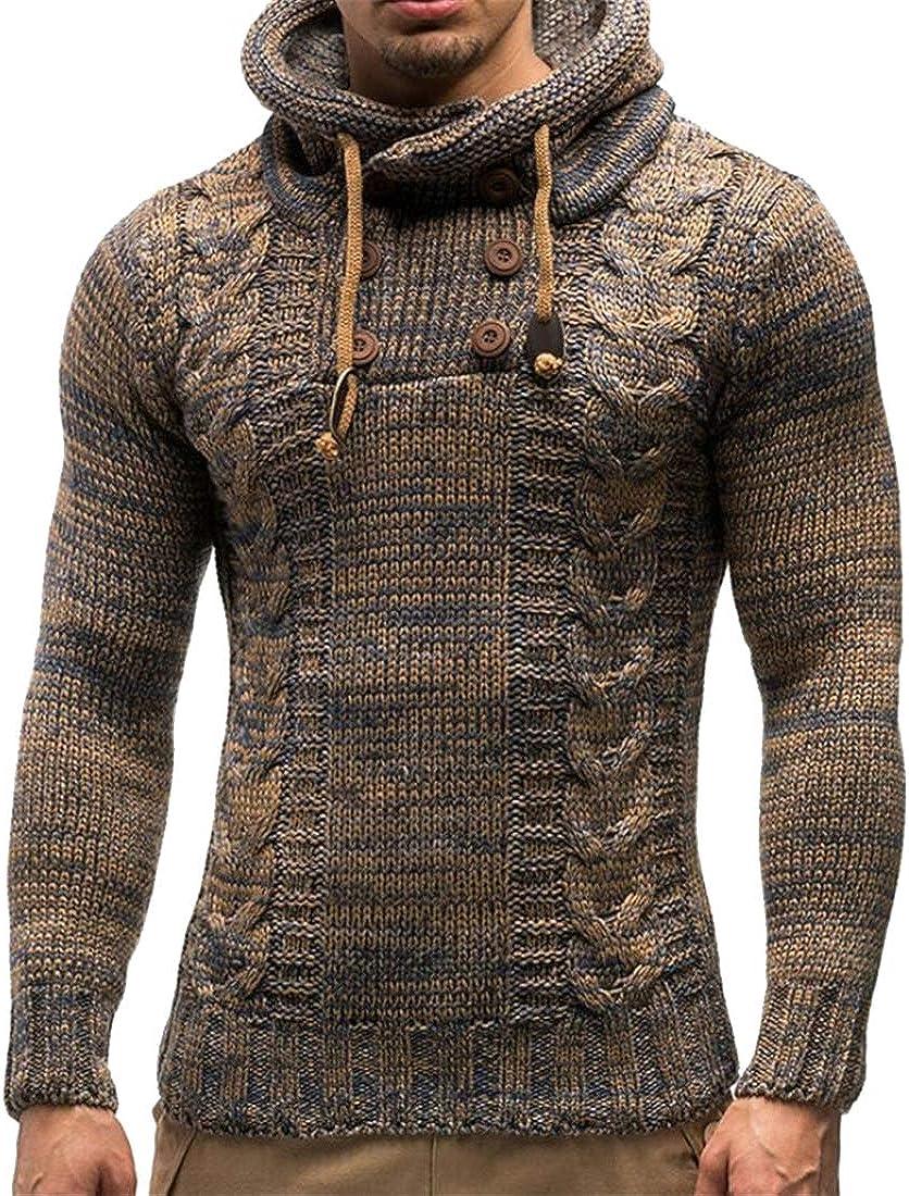 ARTFFEL Women Contrast Stripe Print Fall /& Winter Pullover Hoodie Hooded Sweatshirt Tops
