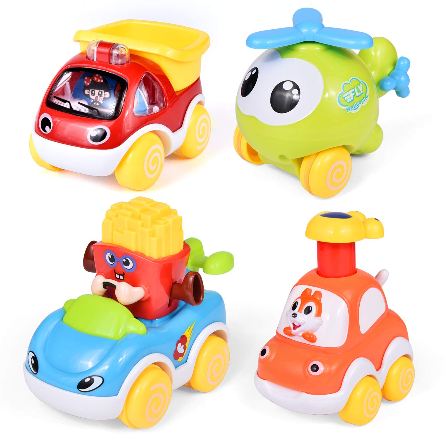 Car Toys for Kids, Pull Back Cars Push and Pull Cars for Babies, Toddler Toy Cars for Birthday Gifts Easter Basket Stuffers for Toddlers