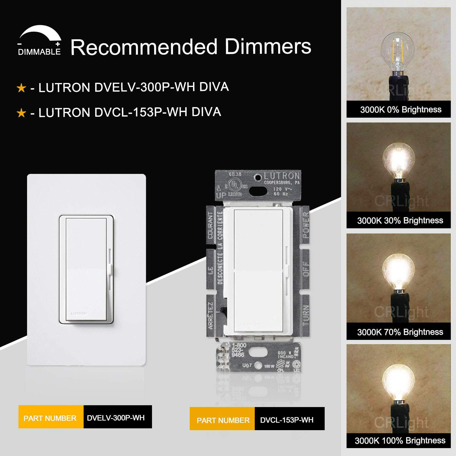 Amazon.com: Bombillas LED E12 con base de candelabro, 2 W, 4 ...