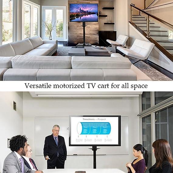Amazon.com: Pinty Mobile Motorized TV Lift Floor Stands Rolling TV ...