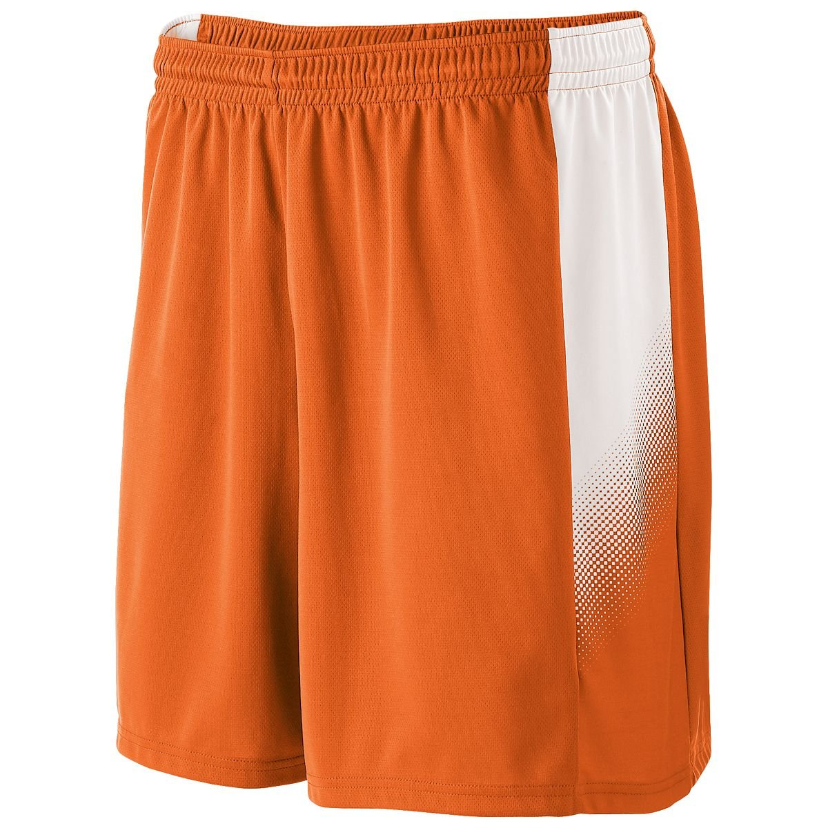 Orange//White Large High Five Mens Elasticized Waistband Ionic Soccer Short