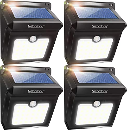Neloodony Solar Lights Outdoor