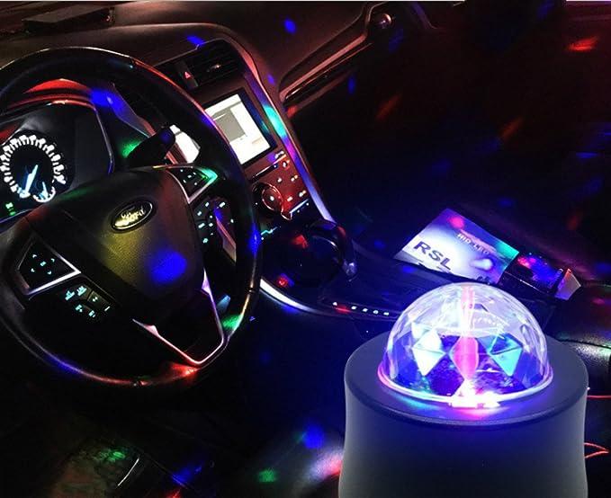 cuzile luz del coche Luces Discoteca de Fiesta Bola Discoteca Mágica LED Iluminación de Efecto Esenario
