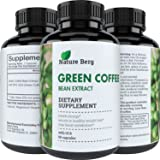 Natural Raw Green Coffee Bean Extract – Extra Strength Pure Premium Antioxidant Beans – 800 mg Max Fat Burner Supplement + Super Cleanse Pills for Weight Loss Benefits + Reviews – Nature Berg