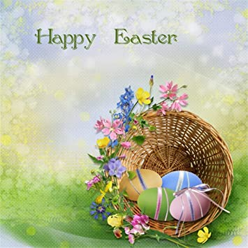 Amazon.com : Yeele 7x7ft Beautiful Happy Easter Day Painted Eggs  Photography Background Charming Flowers Exquisite Bamboo Basket Abstract  Floral Pattern Wall Cute Easter Eggs Studio Props Vinyl Wallpaper : Camera  & Photo