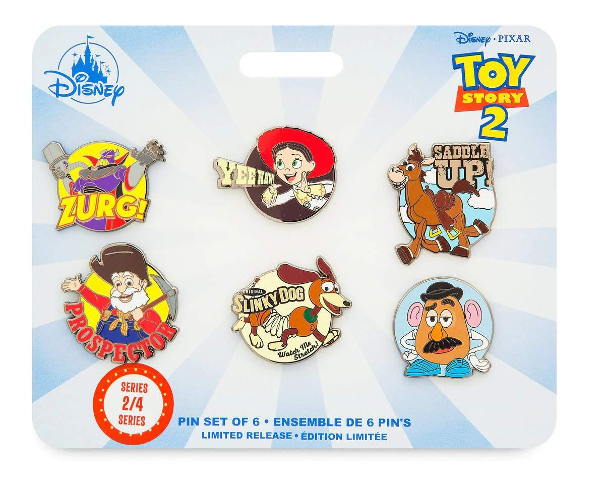 Toy Story 4 Pin set of 6 - Series 2 of 4 - Jessie, Bullseye, Zurg, Slinky Dog, Stinky Pete, and by Memories