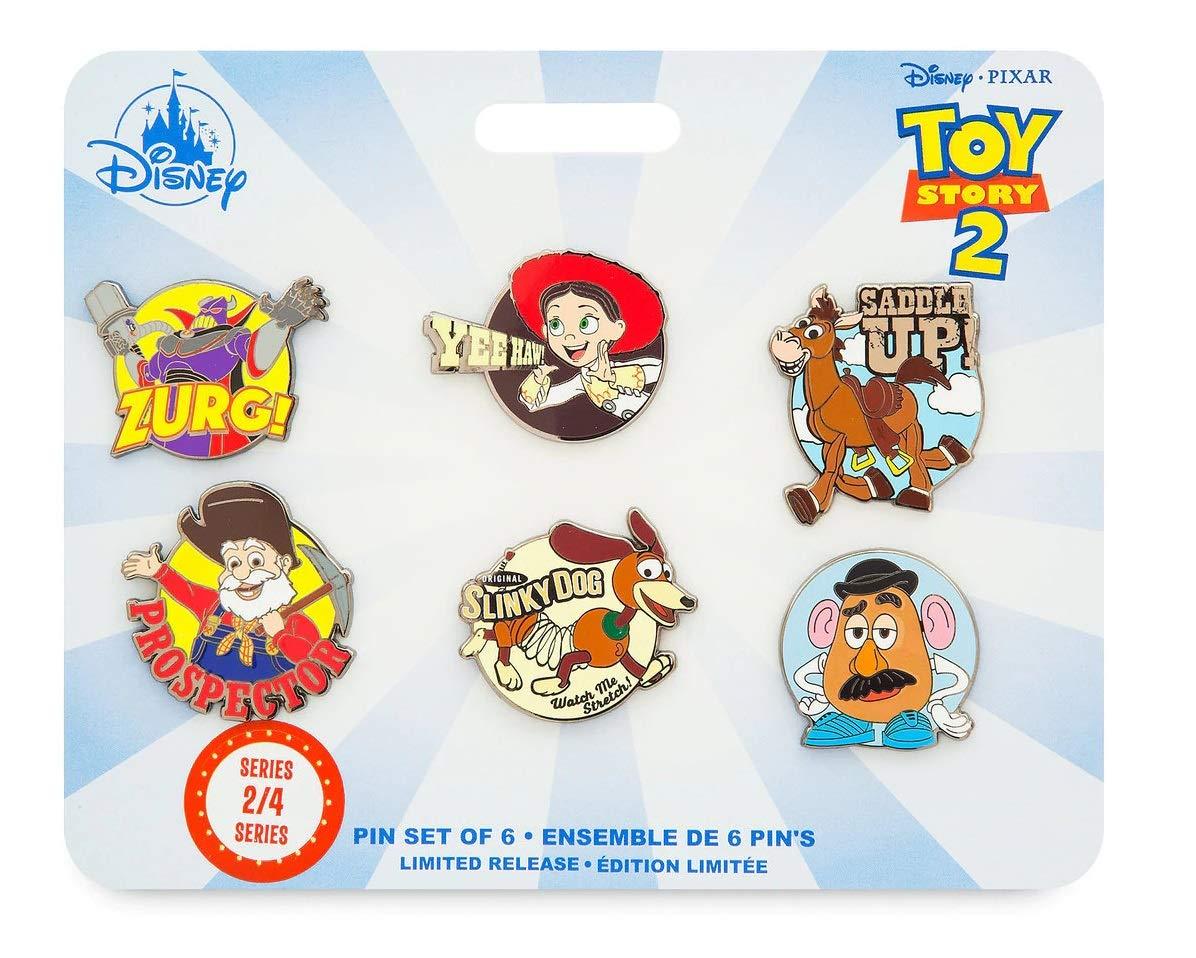 Toy Story 4 Pin set of 6 - Series 2 of 4 - Jessie, Bullseye, Zurg, Slinky Dog, Stinky Pete, and