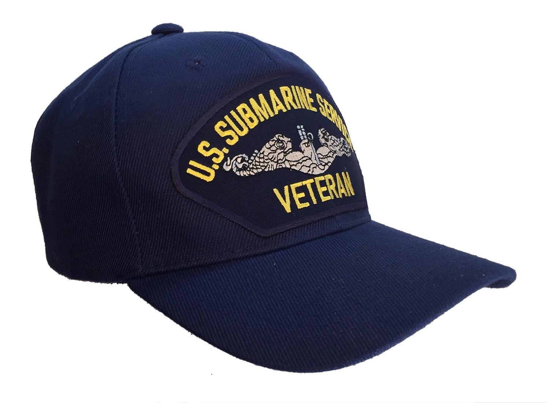 Amazon.com  U.S. Submarine Service Veteran BLUE Ball Cap Hat US Navy ... 0c89114b14c
