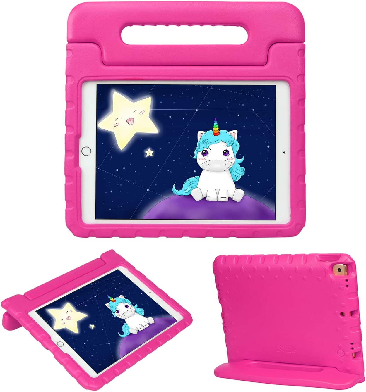 HDE iPad 8th Generation Case for Kids – Shock Proof iPad Cover 7th Generation 10.2 - iPad 10.2 Kids Case with Handle Stand for 7th/8th Generation Apple iPad - Hot Pink