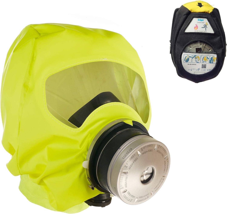 Dräger PARAT 5520 | Máscara de Escape respiratoria ergonómica con Filtro CO P2 | Protección Ante Gases de Incendio, vapores y combustión