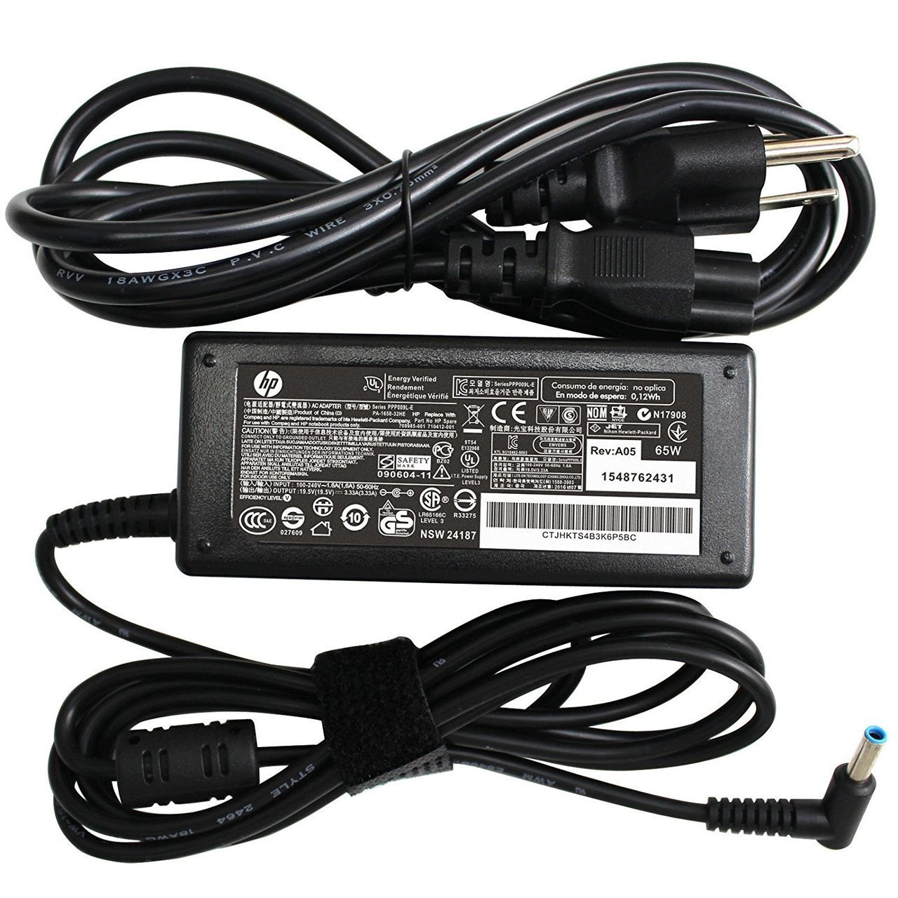 New Genuine HP Chromebook Envy Pavilion 45W 19.5V 2.31A AC Adapter With Cord 741553-850
