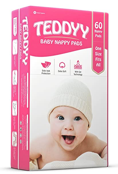 6d390b6d718 Buy Teddyy Nappy Pads (60 Count) Online at Low Prices in India - Amazon.in