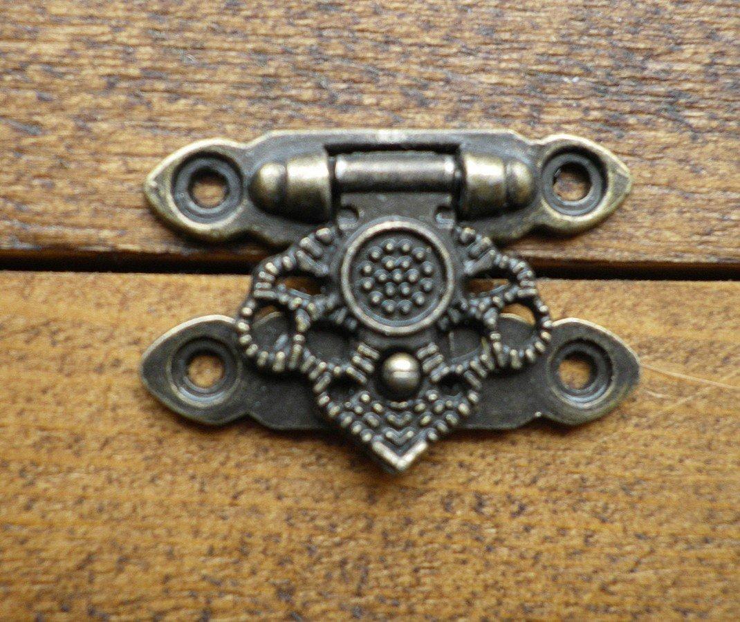Verrouillage fermoir Closer Loquet Loquet orn/é C//W Vis Finition bronze antique c069