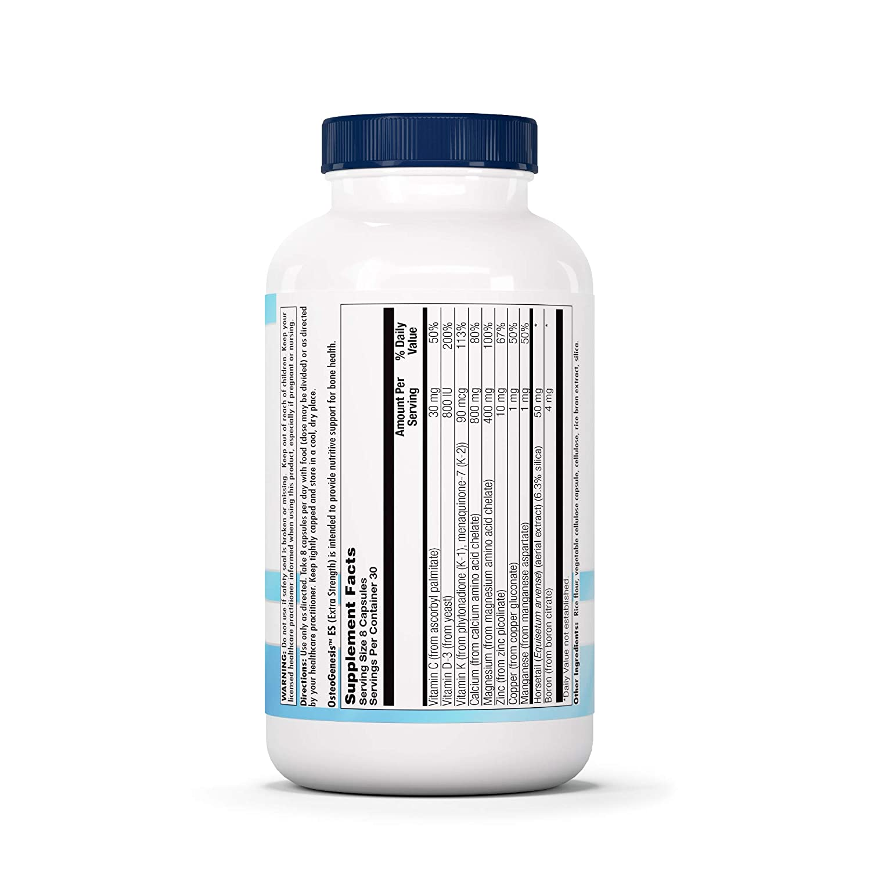 Amazon.com: Nutra BioGenesis OsteoGenesis ES - Calcium, Magnesium, Vitamin D and Vitamin K for Bone Strength and Support - 240 Capsules: Health & Personal ...