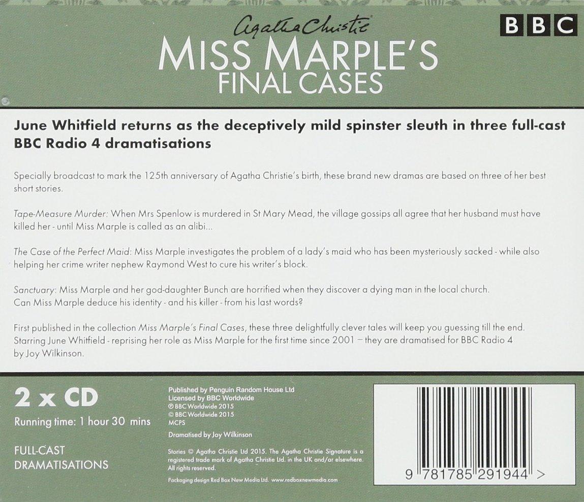 Miss Marple's Final Cases: Three New Bbc Radio 4 Fullcast Dramas: Amazon:  Agatha