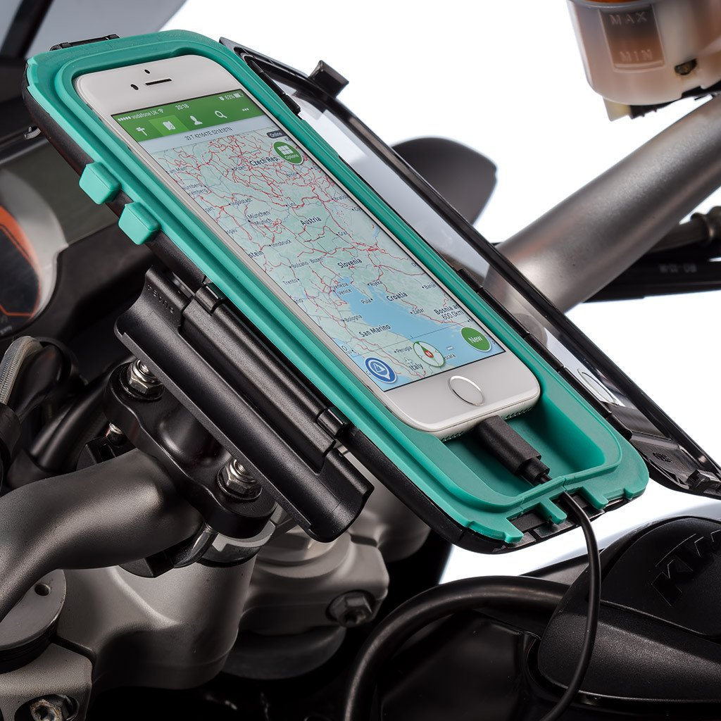 Ultimateaddons Motorcycle U-Bolt 3'' Extended Mount + Tough Case for Apple iPhone 7 4.7 + Hardwire Kit by Ultimate Addons (Image #4)