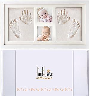 Doubleme Kit de Marco de Huellas de Manos y Pies del Bebé, Regalos Memorables para