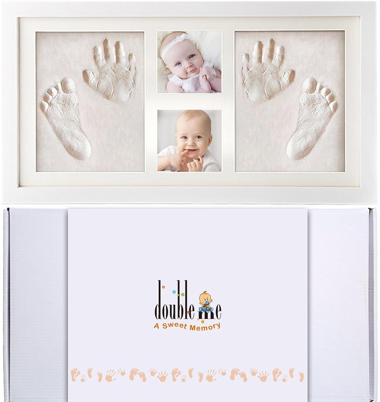Doubleme Kit de Marco de Huellas de Manos y Pies del Bebé, Regalos ...