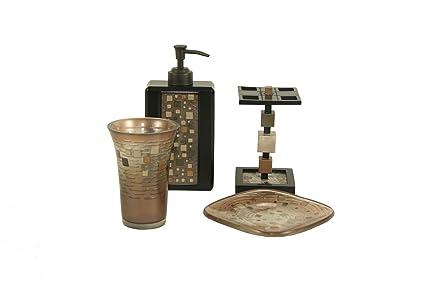 Amazoncom Croscill Mosaic Piece Bath Set Home Kitchen - Croscill bathroom sets