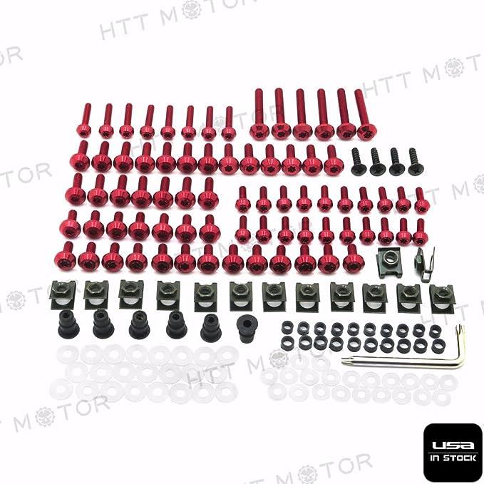 Amazon.com: httmt- carenado Sujetadores Bolt Kit Black ...