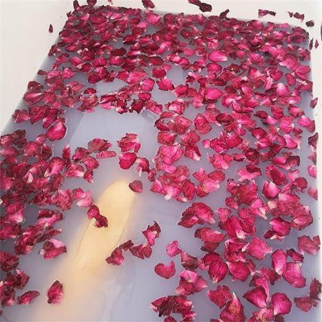 banos de petalos de rosas rojas