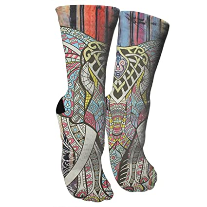 6507f9dd9764 Amazon.com  Indian-Colored-Elephant Athletic Tube Stockings Women s ...