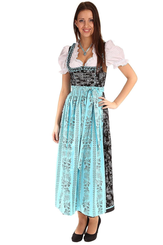 Turi Landhausmode Damen Dirndl lang D511017 Rosalinda 2000