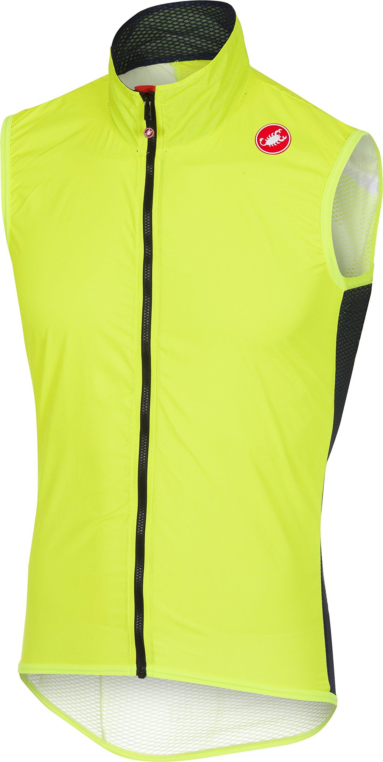 Castelli Pro Light Wind Vest - Men's Yellow Fluo, XXL by Castelli